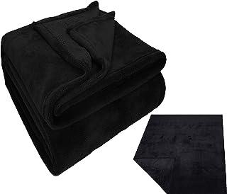 Betz Couverture Teddy taille 150 x 200 cm Couleur noir