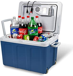 Electric Cooler and Warmer for Car and Home with Wheels - 48 Quart (45 Liter) Holds 60 Cans or 6 Two Liter Bottles and 15 ...
