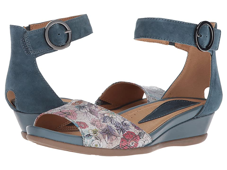 Earth Hera (Blue Floral Printed Suede) Women