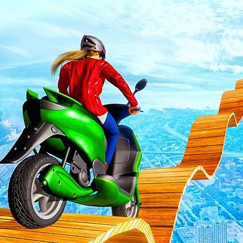 Mega Ramp Scooty Stunts: Extrem aufregende Mädchen-Bike-Stunts mit unterhaltsamem Simulator-3D-Spiel 2019