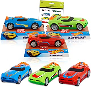 Hot Wheels Cars Bundle - 3 Pack Hot Wheels Toys Set for Boys Men Hot Wheels Toy Cars with Race Car Stickers