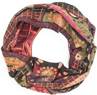 Bohomonde 100% Cashmere Pashmina or Infinity Scarf, Genuine Cashmere, Soft Warm Indian Paisley, Fun Boho Patterns