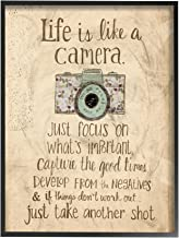 The Stupell Home Decor Collection Life is Like a Camera Icon Framed Giclee Texturized Art