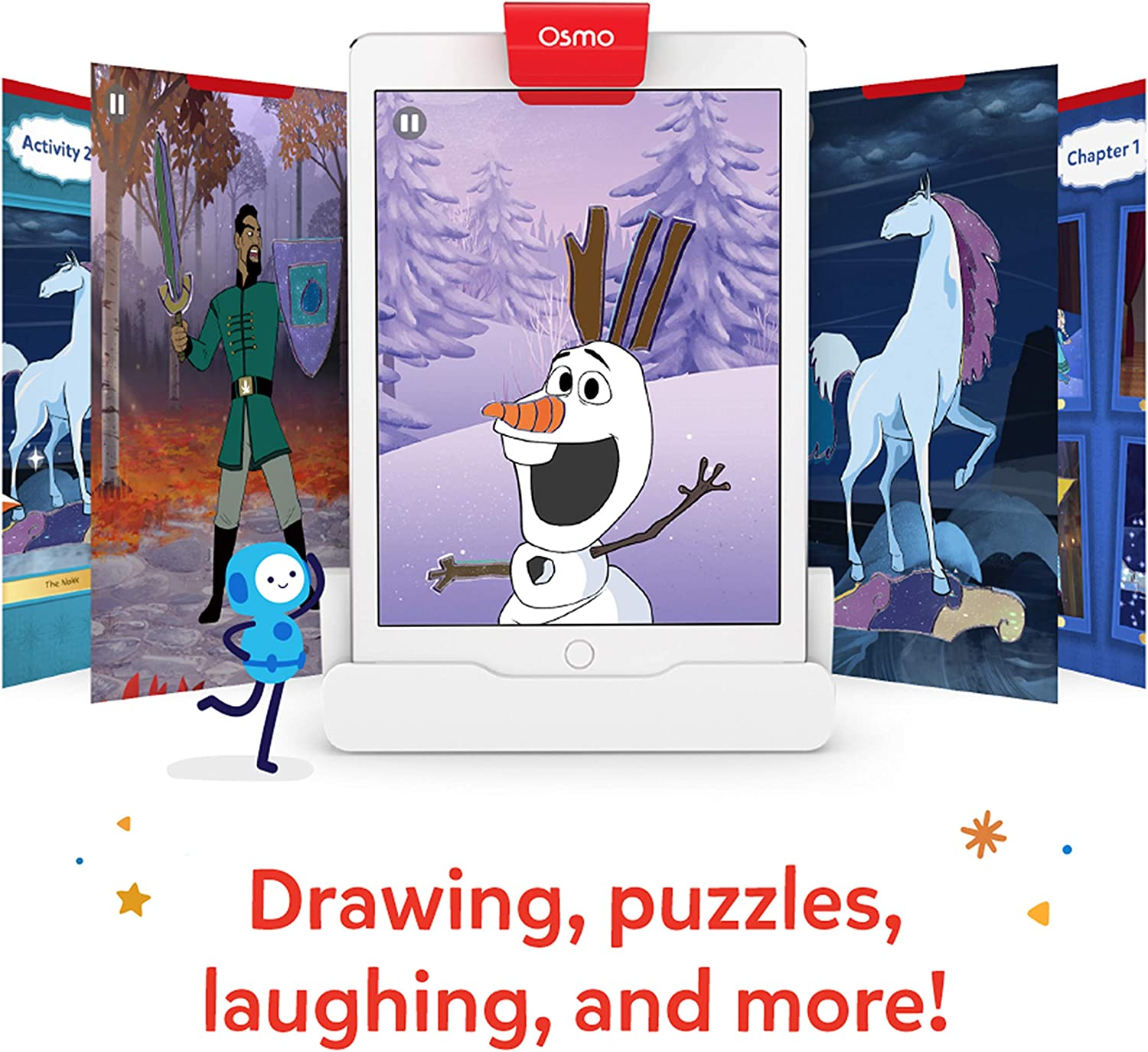 Anna Osmo 901-00015 Little Genius Starter Kit 4 Hands-On Learning Games /& 902-00012 R Super Studio Disney Frozen 2 Game-Ages 5-11-Learn to Draw Elsa Base Required Olaf-for iPad and Fire Tablet