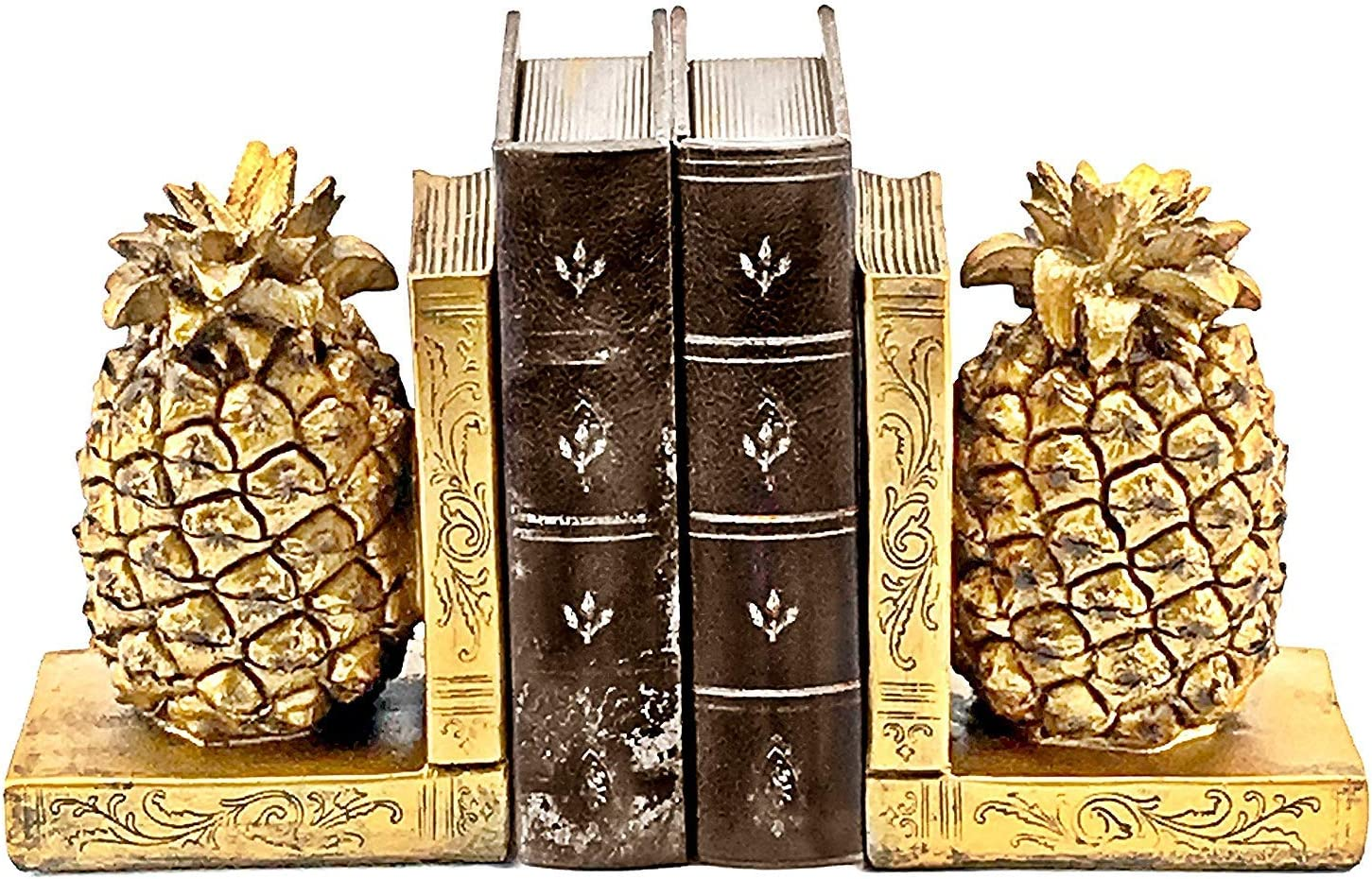 Bellaa 24162 Decorative excellence Bookend Home Japan Maker New Décor Book Pineappl Ends
