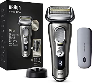 Braun Series 9 Pro Premium scheerapparaat heren met 4+1 scheerkop, elektrisch scheerapparaat met ProLift Trimmer, PowerCas...
