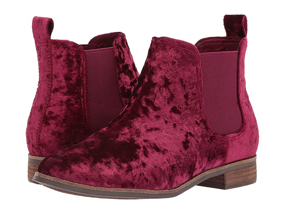 TOMS Ella (Black Cherry Velvet) Women