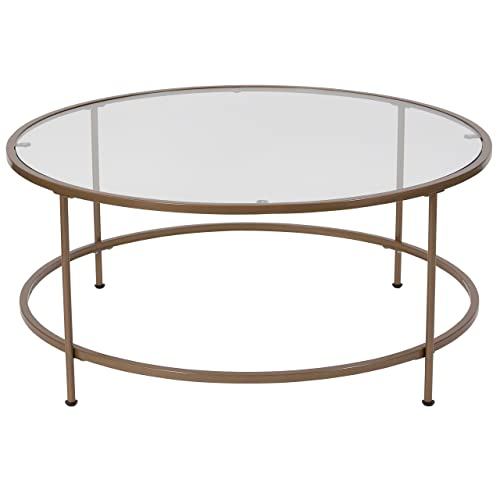 Round Glass Top Coffee Tables Amazon Com