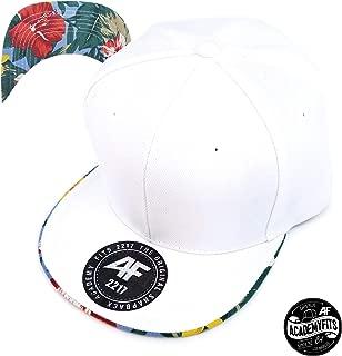 AcademyFits 6 Panel High Crown Floral Flat Undervisor Snapback Baseball Cap Men Women Unisex Tropical Hat Adjustable #2217
