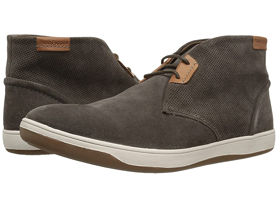 Hush Puppies Taja Commissioner (Grey Perf Suede) Men