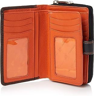 Visconti ® Portafoglio Donna Vera Pelle con Protezione RFID Porta Carte di Credito con Portamonete Borsellino Portafogli P...