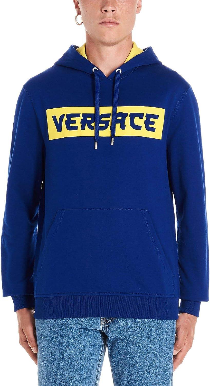 Versace Herren A83840A227994A124 Blau Baumwolle Sweatshirt