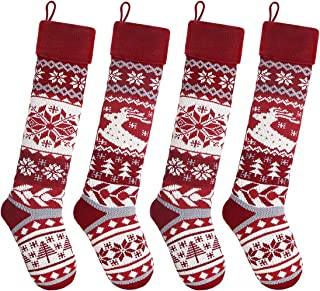 Grey Christmas Stocking Knit Christmas Stocking Plane Santa Sock Knit Holiday Stocking Knit Airplane Sock BLGPR Fair isle stocking