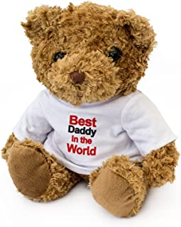 New - Best Daddy in The World - Teddy Bear - Cute Soft Cuddly - Award Gift Present Birthday Xmas