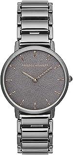 Rebecca Minkoff Women's Quartz Watch with Stainless Steel Strap, Grey, 16 (Model: 2200261)