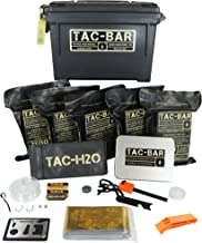 Tac-Bar Ready to Eat Tactical Food Rations for 5 Days (12,500cals) with 10 Aquatab 17 mg Water Purification Tablets - Free Survival Kit