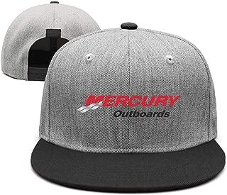 kseerbaball Mercury Marine Logo Outboard Street Dancing Adjustable Unisex Flat brimCaps