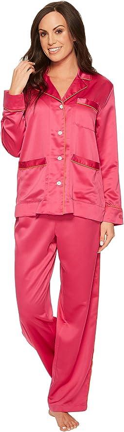 LAUREN Ralph Lauren Satin Notch Collar Pajama