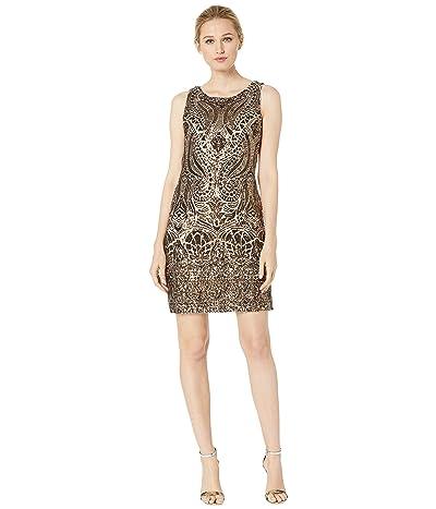 Vince Camuto Bateau Sequin Shift Dress (Bronze) Women