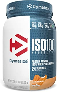Dymatize ISO 100 Whey Protein Powder with 25g of Hydrolyzed 100% Whey Isolate, Gluten Free, Fast Digesting, Dreamsicle, 1....