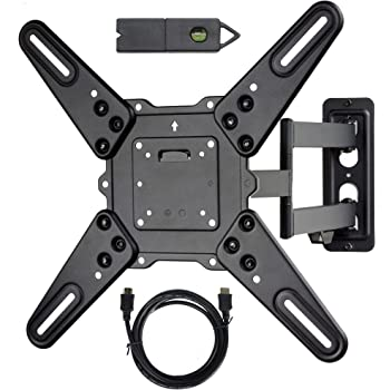 Amazon Com Videosecu Ml531be2 Tv Wall Mount Kit With Free Magnetic Stud Finder And Hdmi Cable For Most 26 55 Tv And New Led Tv Up To 60 Inch Vesa 400x400 Full Motion With