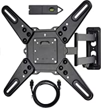 VideoSecu ML531BE2 TV Wall Mount kit with Free Magnetic Stud Finder and HDMI Cable for Most 26-55 TV and New LED TV up to ...