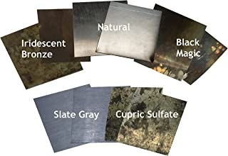 Zinc Sheet Sample Pack for Counter Tops, Table Tops and Bars