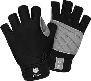دستکش گشت و گذار انگشتی FitsT4 Unisex 3/4 برای اسکی روی آب ، قایق رانی ، ویندوزرینگ ، Kiteboarding ، قایقرانی ، جت اسکی و Stand-UP Paddle Boarding قابل تنظیم مچ دست مچ دست قابل تنظیم ، راحتی مناسب