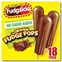 Popsicle Fudgsicle Fudge Pops, No Sugar Added, 18 ct (frozen)