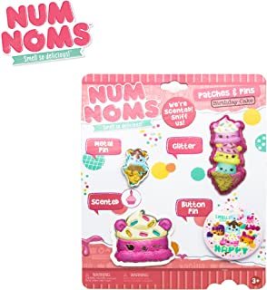 Num Noms Kids Children Kids Scented Patch and Pin Set in Birthday Cake