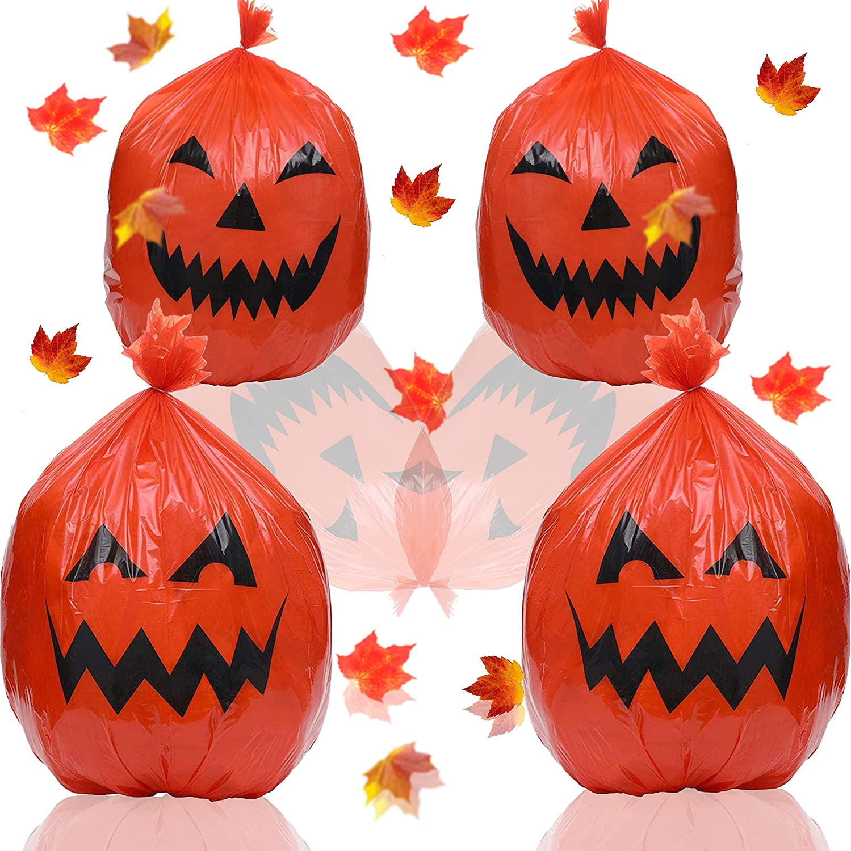 Sale special price PIWFSDBG 4 Pieces Halloween Sale price Pumpkin Hallowee Lawn Bags Leaf