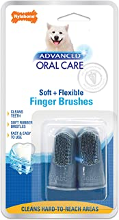 Nylabone Advanced Oral Care Dog Finger Brush, 2 pack, One Size (NPD701P)