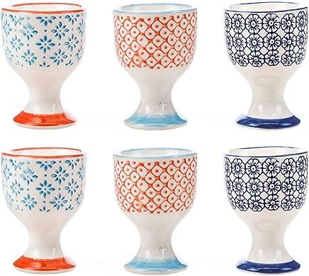 Preisvergleich für Nicola Frühling Porzellan gedruckt Frühstück Eierbecher Multi - Set aus 6