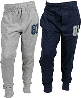 ABITO Boys' Regular Fit Joggers (Pack of 2)