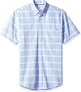 Amazon Essentials Men's Regular-Fit Short-Sleeve Pocket Oxford Shirt
