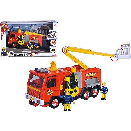 Simba Pompiere Camion Deluxe Jupiter con 2 Personaggi Sam e Penny, 3 Anni, 109251085038