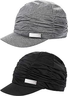 Headshion Womens Visor Beret Newsboy Hat Cap Linen Blend Military Cadet Hat