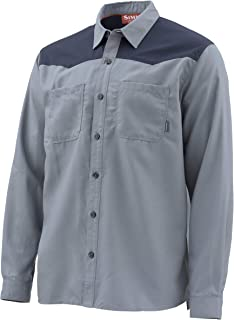 Men's Black's Ford Flannel Long Sleeve Shirt, Moisture Wicking Fishing Shirt with 2 Chest Pockets, Quality Fishing Apparel for Men
