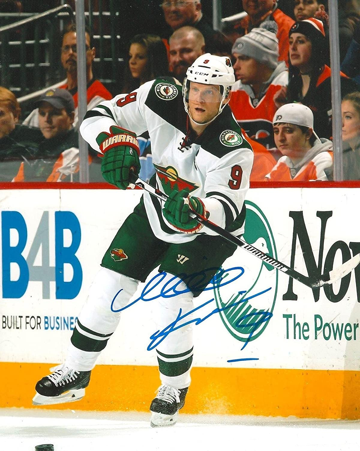 Mikko Koivu Autographed Photo  8X10 w COA E  Autographed NHL Photos