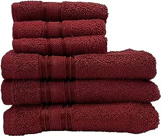 U.S. Polo Assn. 6 Piece Zero Twist Towel Set   3 Hand, 3 Face   100% Cotton