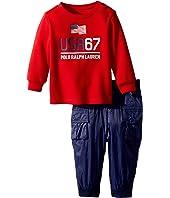 Ralph Lauren Baby Graphic T-Shirt & Pant Set (Infant)