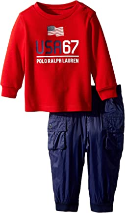 Ralph Lauren Baby - Graphic T-Shirt & Pant Set (Infant)