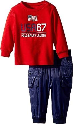 Ralph Lauren Baby - Graphic T-Shirt & Pant Set (Infant)