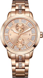 JBW Luxury Women's Lumen Diamond & Swarovski Crystal Wrist Watch with Stainless Steel Bracelet