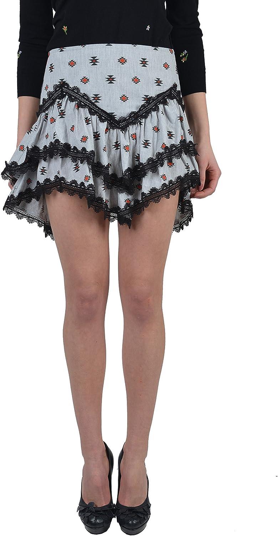 Just Cavalli Women's Multicolor Ruffle Mini Skirts US 4 IT 40