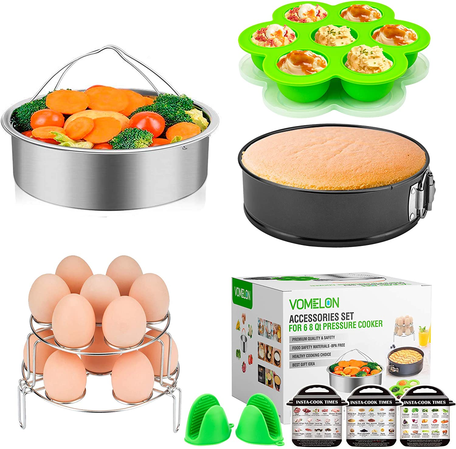 Ranking TOP2 Cooking Accessories compatible with Instant 6 Qt 10-Piece Pot 8 Max 44% OFF