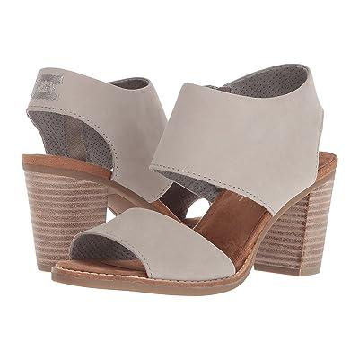 TOMS Majorca Cutout Sandal (Drizzle Grey Leather) Women