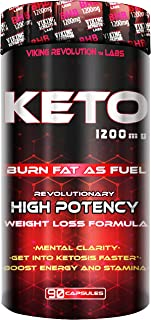 Keto Diet Pills - Weight Loss, Fat Burner Supplement - 1200mg Beta-Hydroxybutyrate, Exogenous Ketones - Formulated to Ente...