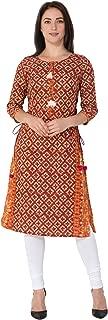 Gulmohar Jaipur Women's Cotton Straight Kurti (Red)