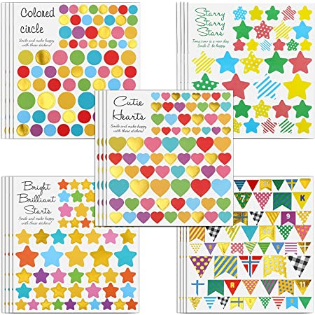 MOKIU Grandes Gommettes Enfant Autocollants Stickers Colorés pour Scrapbooking, Loisirs Creatifs, Materiel Activites Manuelles, Album DIY